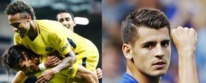 Neymar, Alvaro Morata, real Madrid, Paris saint Germain, Barcelona, Chelsea
